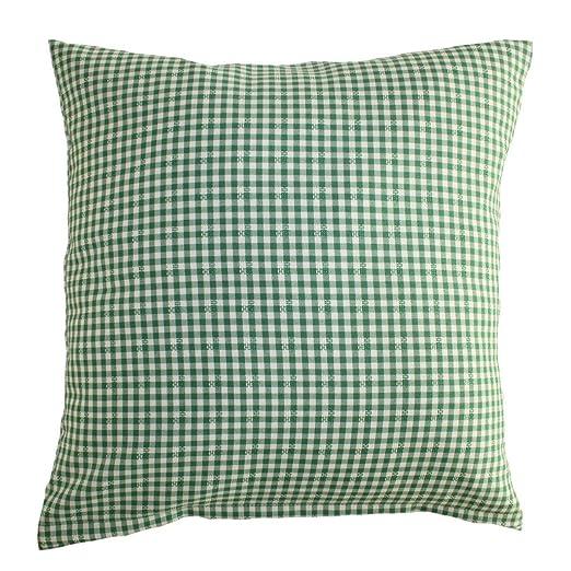 Almohada Cuadros 5 x 5 mm, verde y blanco, aplicaciones ...