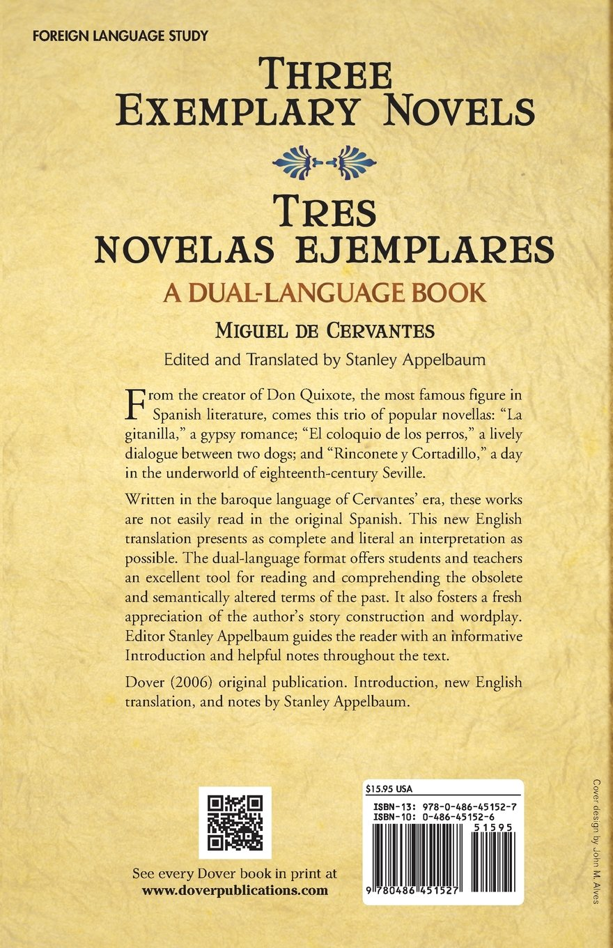 Three Exemplary Novels/Tres novelas ejemplares: A Dual-Language Book (Dover Dual Language Spanish) by Dover Publications