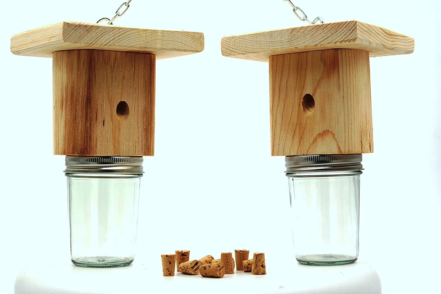Mac's Best Brothers Natural Wood Carpenter Bee Trap