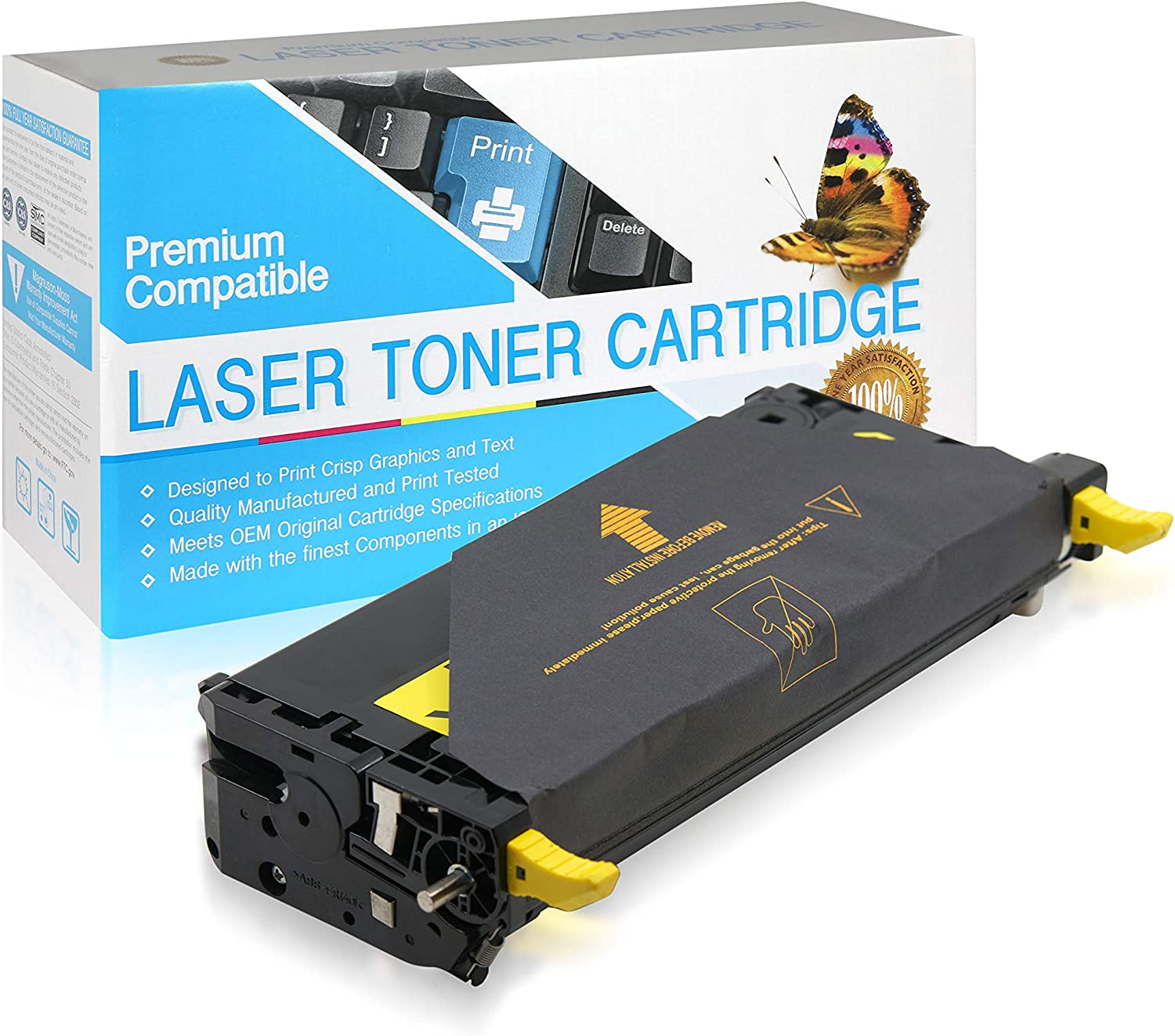 106R1393 106R1389 Magenta,1 Pack USA Advantage Compatible Toner Cartridge Replacement for Xerox 6280 106R01393 106R01389