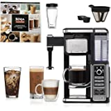 Ninja Coffee Bar Single-Serve System with XL Ninja Hot & Cold 22 oz. Multi-Serve Tumbler and Recipe Book, Bonus of 2 Cone #4 Coffee Filters