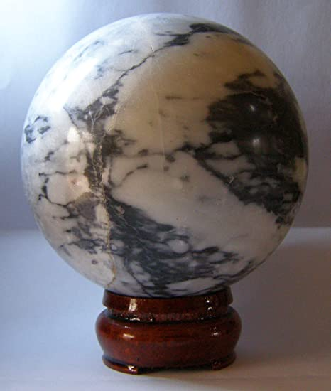 40MM Cat/'s White Eye Crystal Ball Orb Sphere display Stand