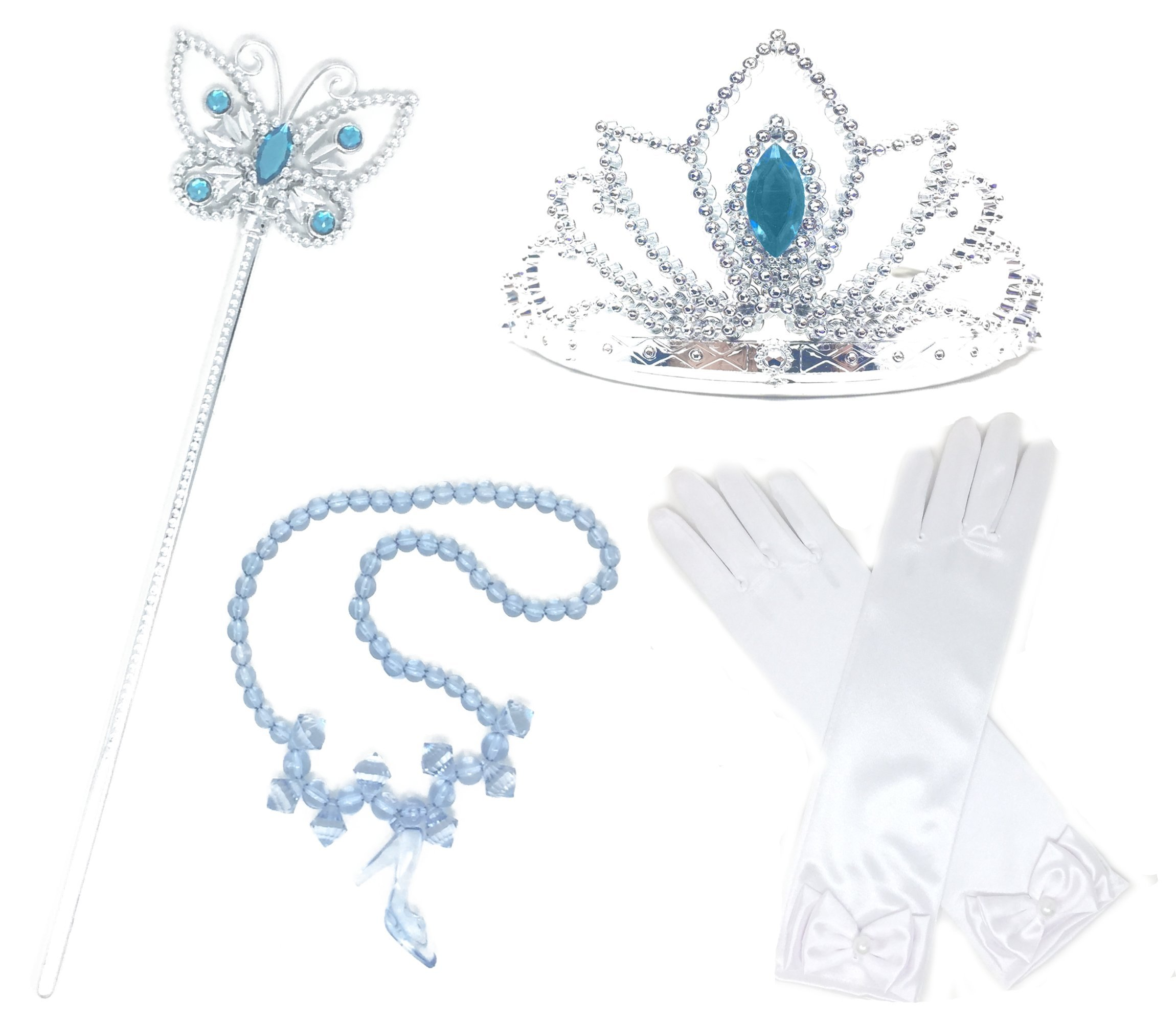 Princess Cinderella Dress up Party 4-Piece accessories Gift Set (Cinderella)
