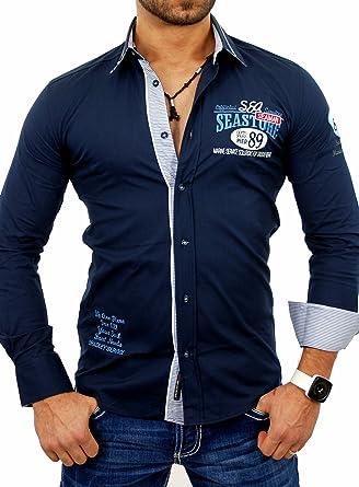 Bradley Camisa Hombre VIP Tiempo Libre Camisa Manga Larga Camisa B de 299: Amazon.es: Ropa y accesorios