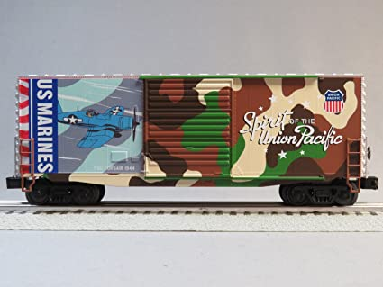 MTH RAIL KING UNION PACIFIC MARINES 40' HIGH CUBE BOXCAR o gauge Railroad Boxcar House Plans on railroad caboose plans, railroad car plans, large wooden train plans, railroad flatcar plans, railroad track plans,