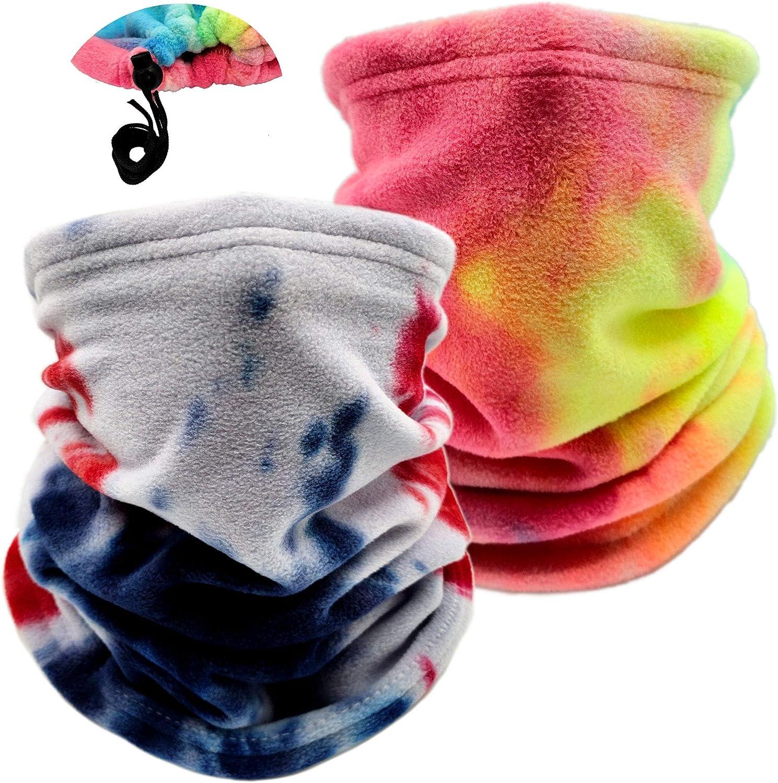 Ehsbuy - Polainas térmicas de cuello para mujer o hombre, para invierno, cálido, cálido, para la cara, bufanda, ciclismo, correr, montar a caballo, 2 unidades