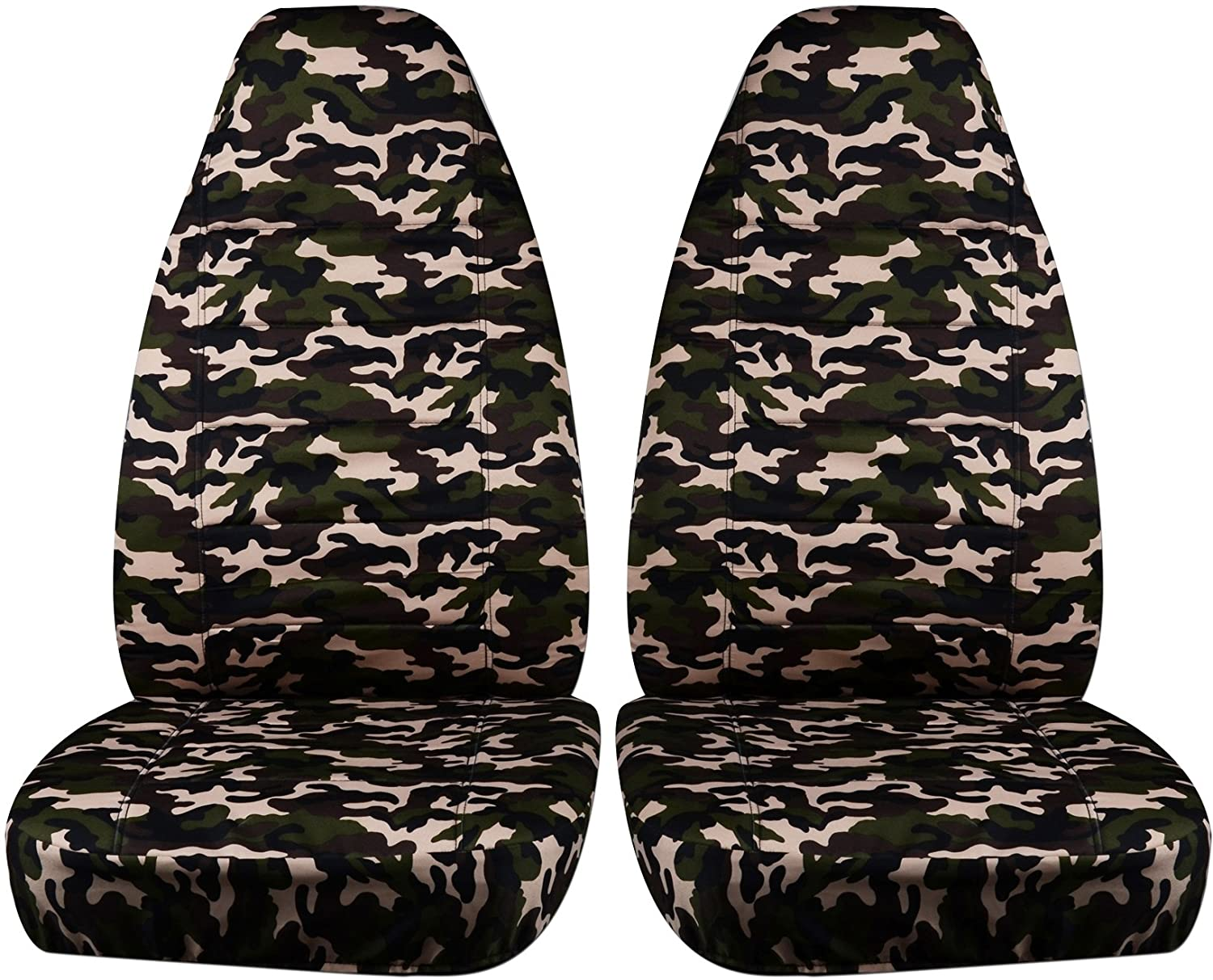 2004-2012 Chevy Colorado/GMC Canyon Camo Truck Bucket Seat Covers: Orange Real Tree Camouflage (16 Prints) 2005 2006 2007 2008 2009 2010 2011 Chevrolet Designcovers