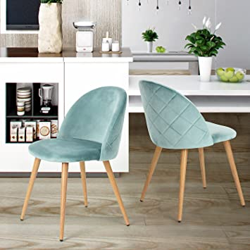 Beau Dining Chairs Coavas Soft Seat And Back Velvet Living Room Chairs With  Wooden Style Sturdy Metal