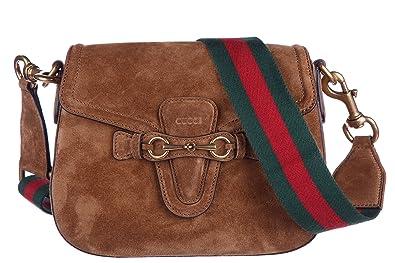 Gucci Schultertasche Wildleder Damen Tasche Umhängetasche Bag lady web Braun b7c6f8c7aa