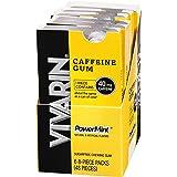 Vivarin Caffeine Gum, 8Piece, Sugarfree Chewing Gum, 6Count