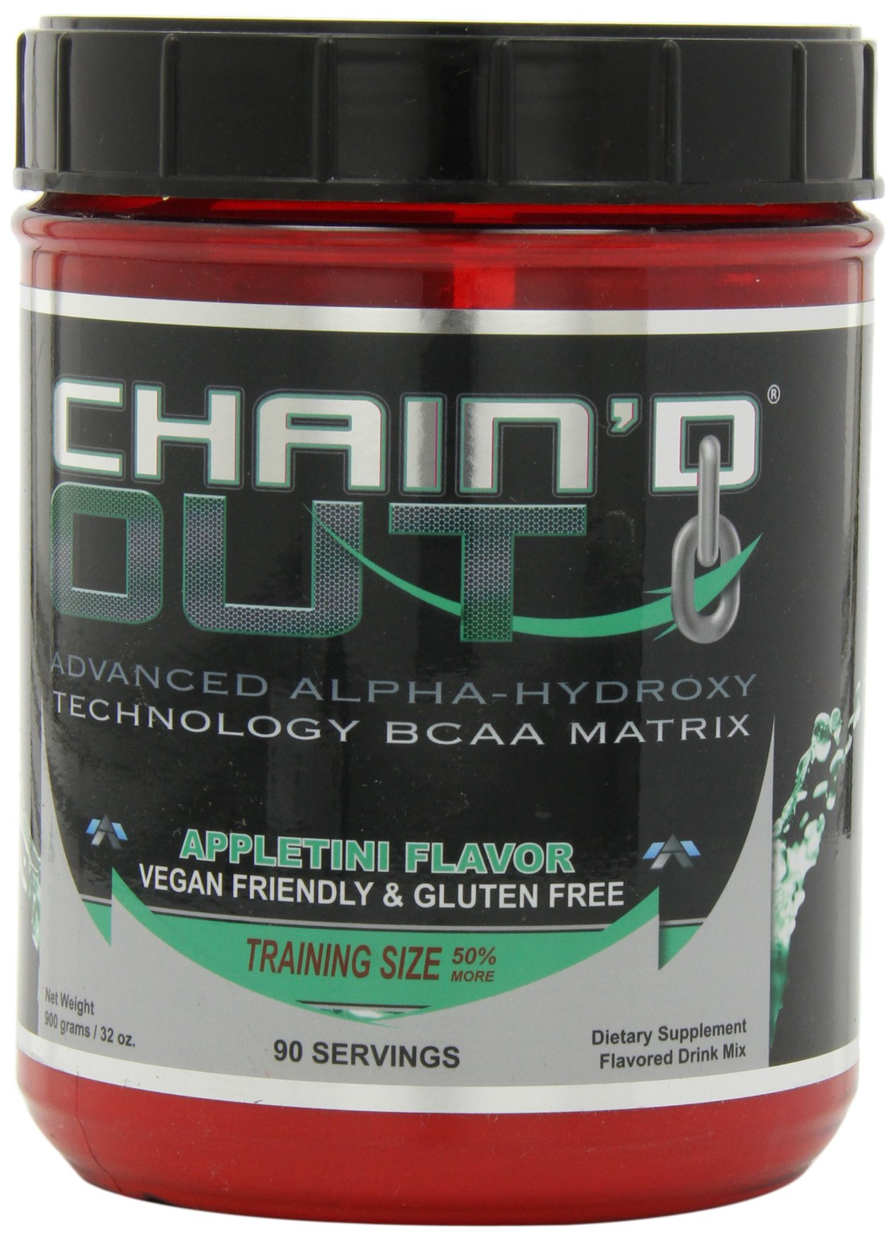 ALR Industries Chain'd Out, Vegan Friendly & Gluten Free Advanced Technology BCAA Matrix, Appletini, 900 Gram/ 90 serving