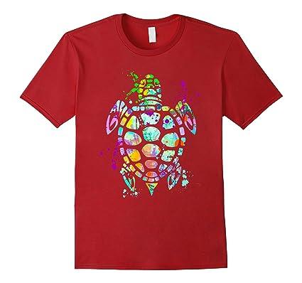 1a8dab5d Amazon.com: Sea Turtle T-Shirt, Watercolor Splash Love Turtles Tee Shirt:  Clothing