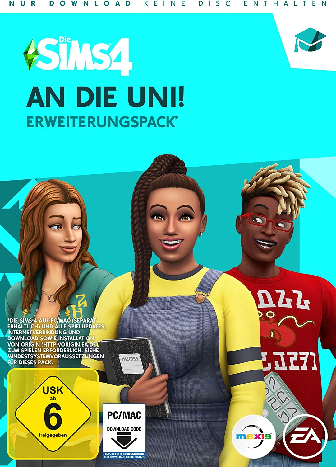 DIE SIMS 4 An die Uni Expansion Pack 8 - PC - [Code in a box ...