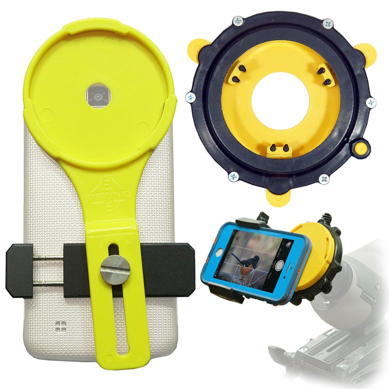 Phone Skope Lollipop Universal Digiscoping kit for Spotting Scope, Binocular, Microscope, Zoom Camera, Hunting, Biology, Birdwatching, Birding and Phone Scope Lenses (U2 (1.7'' - 2.335''))