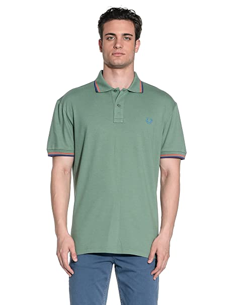 Fred Perry Polo Verde Militar L: Amazon.es: Ropa y accesorios