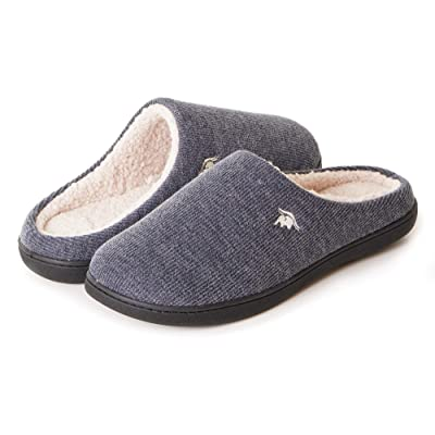 EuropeanSoftest Women's Classic French Terry Lining Slip On 80-D Memory Foam Slippers Breathable Washable Indoor/Outdoor House Shoe w/Anti Slip Sole | Slippers
