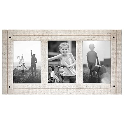 Amazon.com - Americanflat 4x6 Aspen White Collage Distressed Wood ...