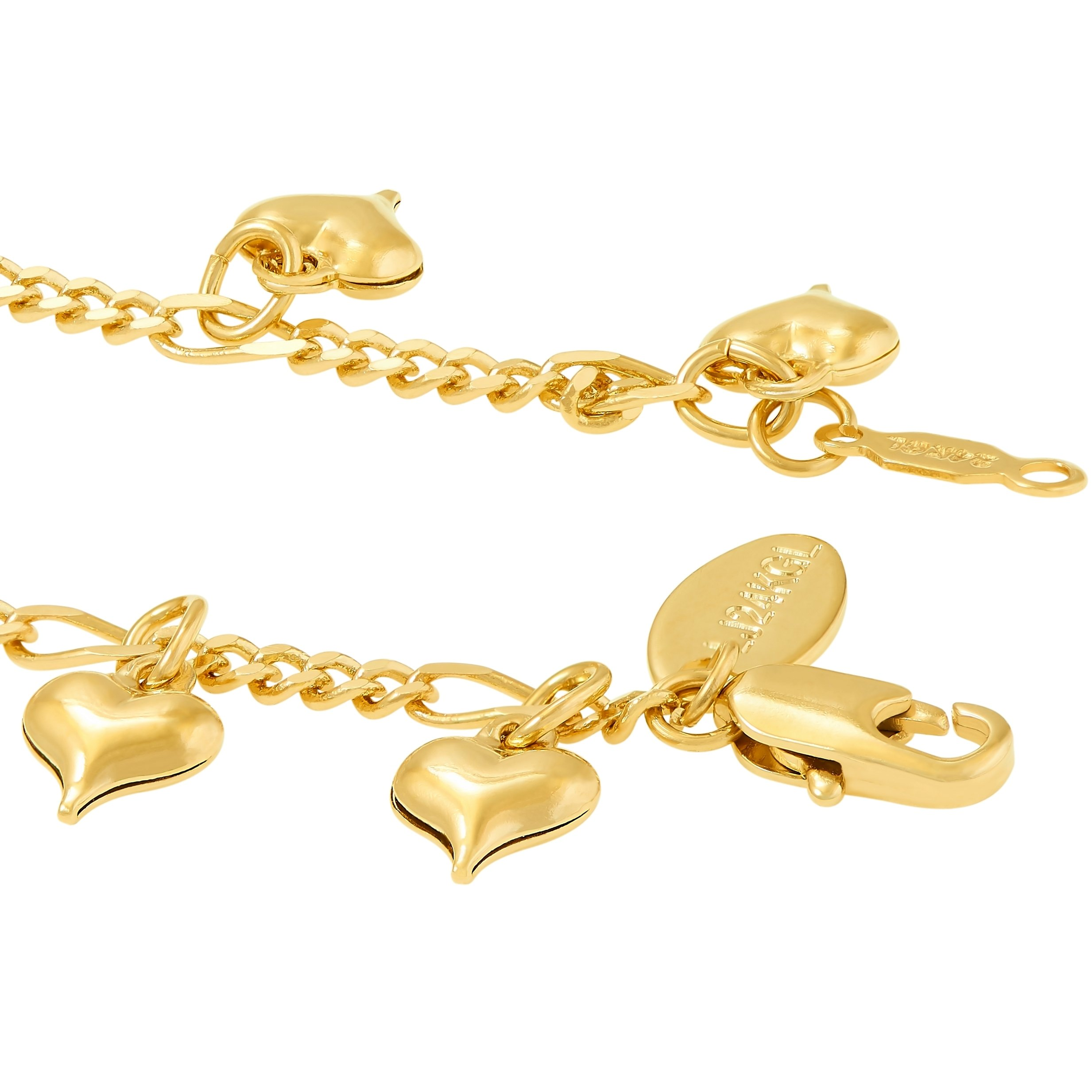 Lifetime Jewelry Anklets for Women and Teen Girls - 24K Gold Plated Chain with Dangling Hearts - Ankle Bracelet to Wear at Beach or Party - Cute Surfer Anklet - 9 10 and 11 inches (9) by Lifetime Jewelry (Image #5)