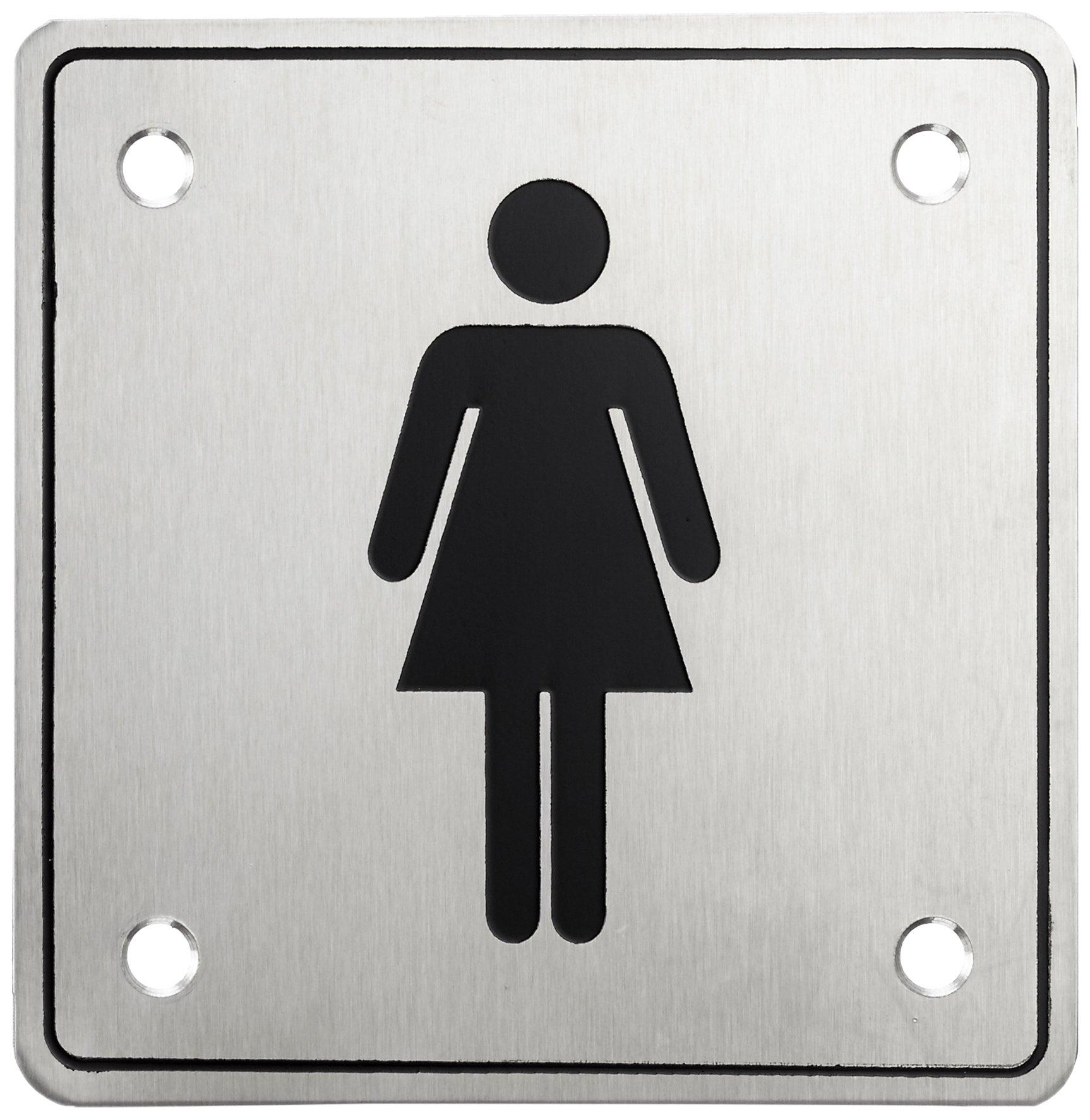 HSI 'Door Sign Women with Screw Stainless Steel 100x 100x 1(Pack of 1) 966225.0
