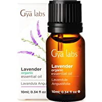 Gya Labs Lavender Essential Oil Organic For Stress Relief, Relaxation and Sleep - Topical For Dry Skin, Irritation and…