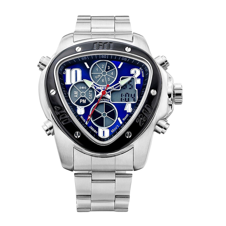 Euro Spirit MilitÄr Armee Kleid Luxus Quarz Japanisches Uhrwerk Herren Silber Armbanduhr