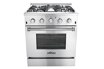 Thor Kitchen HRG3080U 30u0026quot; Freestanding Professional Style Gas Range  With 4.2 Cu. Ft.