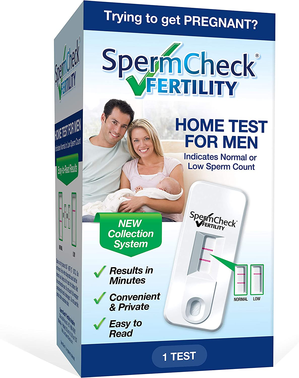 Spermcheck Fertility Home Test Kit For Men Shows Normal Or Low Sperm Count Easy To Read Results Convenient Accurate Private