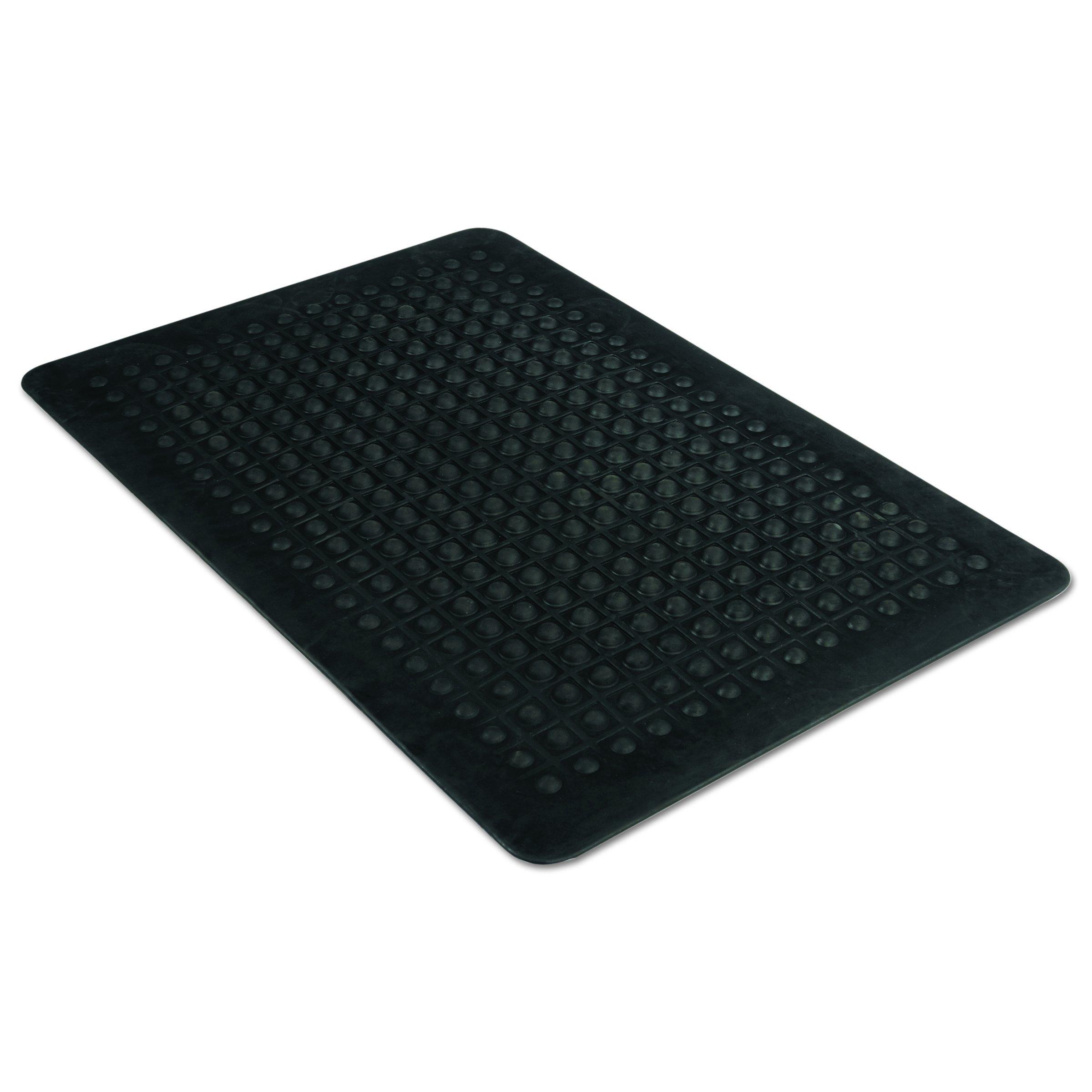 Guardian Flex Step Antifatigue Floor Mat, Rubber, 3'x5', Black