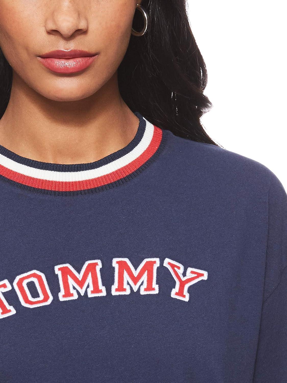 Tommy Hilfiger Damen Cn Dress Ls Einteiliger Schlafanzug