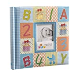 Arpan Blue Cute Baby Slip In Case Photo Album With Window and 200 6x4'' Photos - Alpha-Numeric -Ideal Gift
