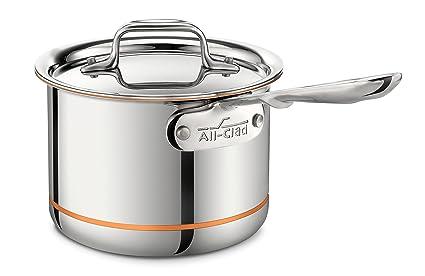 All-Clad 6202SS Euro Copper-Core - Olla con Mango (con Tapa,