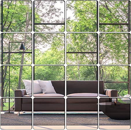 Mirror Wall Sticker DIY Art Mural Home Room Decor Acrylic Decals Removable RE