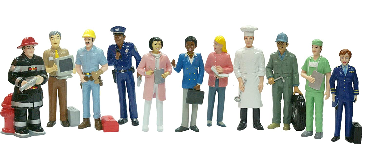 Amazon.com: Miniland Miniland27388 Jobs 11 Figures, Multi ...