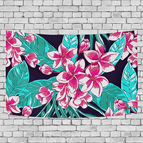 Amazon.com: Tropical Floral Print Art Decoration, Bedroom Living ...