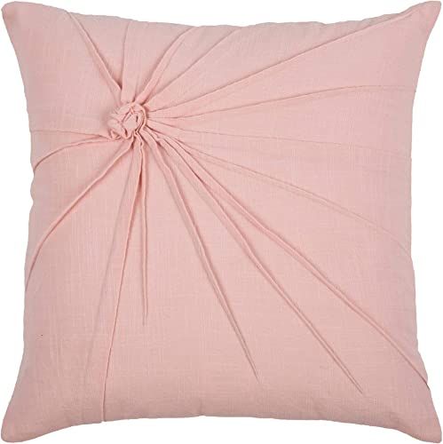 Rizzy Home T08766 Decorative Pillow, 18 X18 , Pink