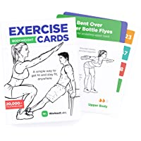 WorkoutLabs Exercise Cards: Bodyweight – Home Workout Cards Deck for Women and Men with 60 Exercises and 12 No Equipment…