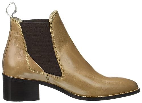 Marc O'Polo Mid Heel Chelsea 70714165101101, Bottes Chelsea Femme - Marron - Marron (Rouille),