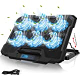 IVSO Laptop Cooling Pad, Laptop Cooler Pad (6 Quiet Led Fans), Dual USB Powered Gaming Laptop Cooling Stand for 15.6-17…