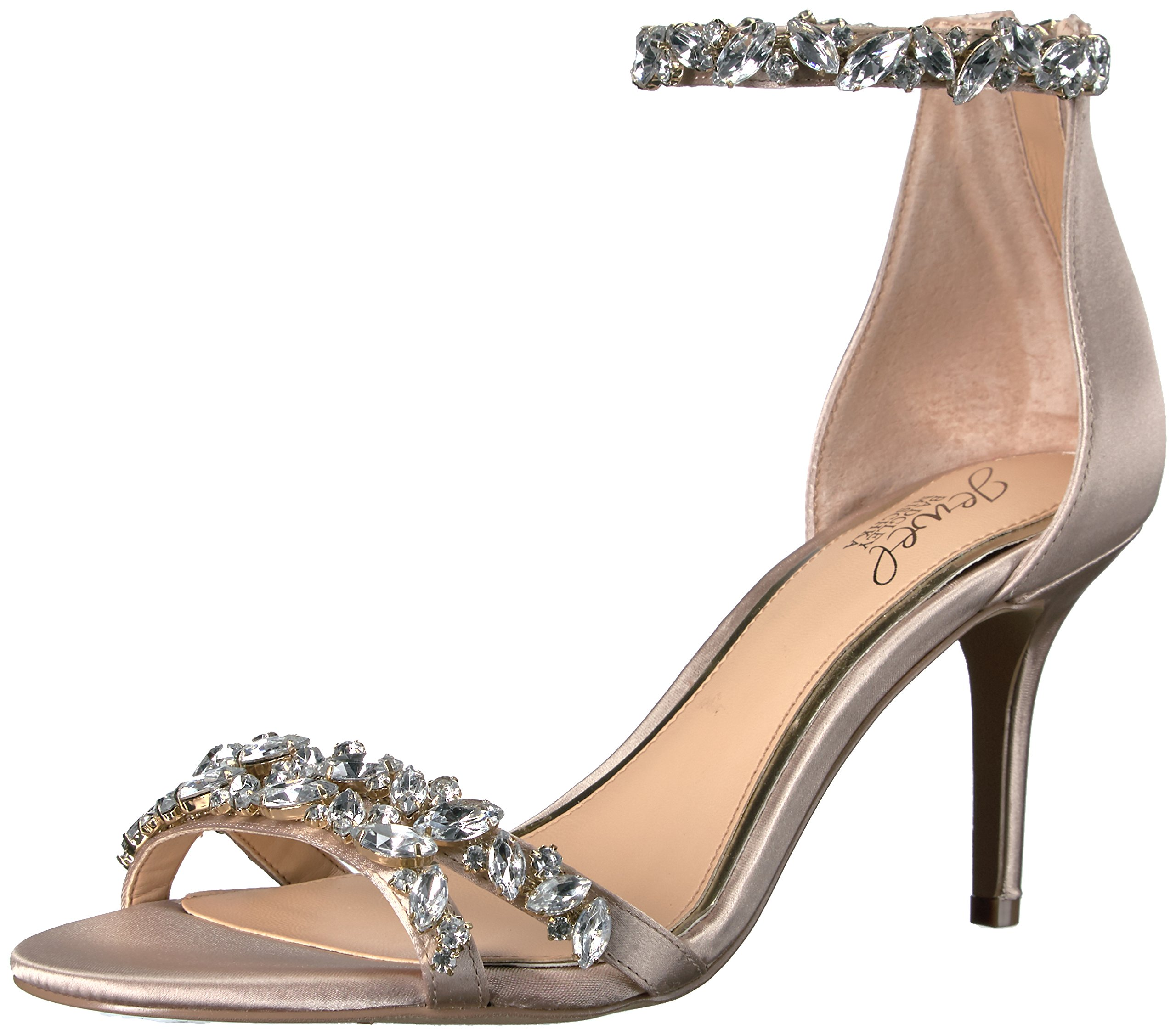 Badgley Mischka Jewel Women's Caroline Dress Sandal, Champagne, 8 M US by Badgley Mischka