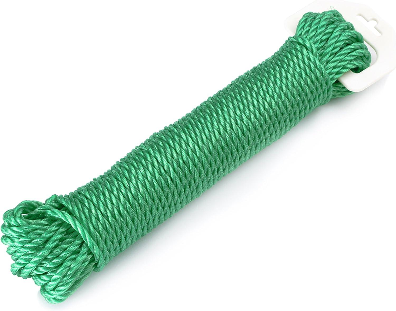 Protenrop Cuerda de Tender, 15 Metros, Color Verde