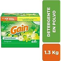 Gain Detergente en Polvo, 1.3 Kg, 40 Cargas