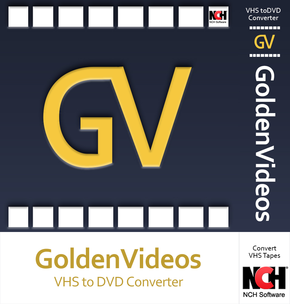 Golden Videos VHS to DVD Converter Software - Convert VHS to DVD or Digital Files [Download]