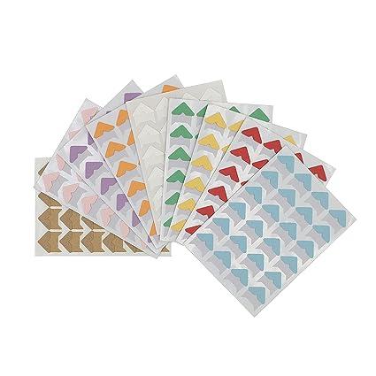 Multicolored Bememo 2040 Pieces Photo Corners Self Adhesive for Scrapbook Picture Album