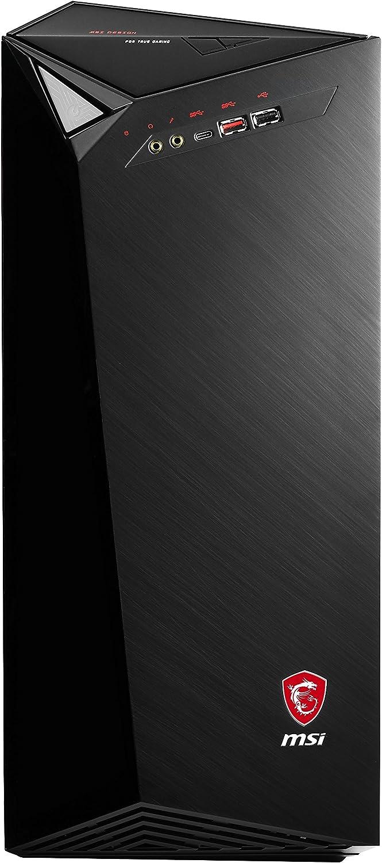 MSI - MSI Infinite 7RB-012EU - Ordenador de sobremesa (Intel Core i5-7400, RAM de 8 GB, SSD de 128 GB y HDD de 2 TB, NVIDIA GeForce GTX 1050Ti 4 GB, Windows 10 Home), Negro