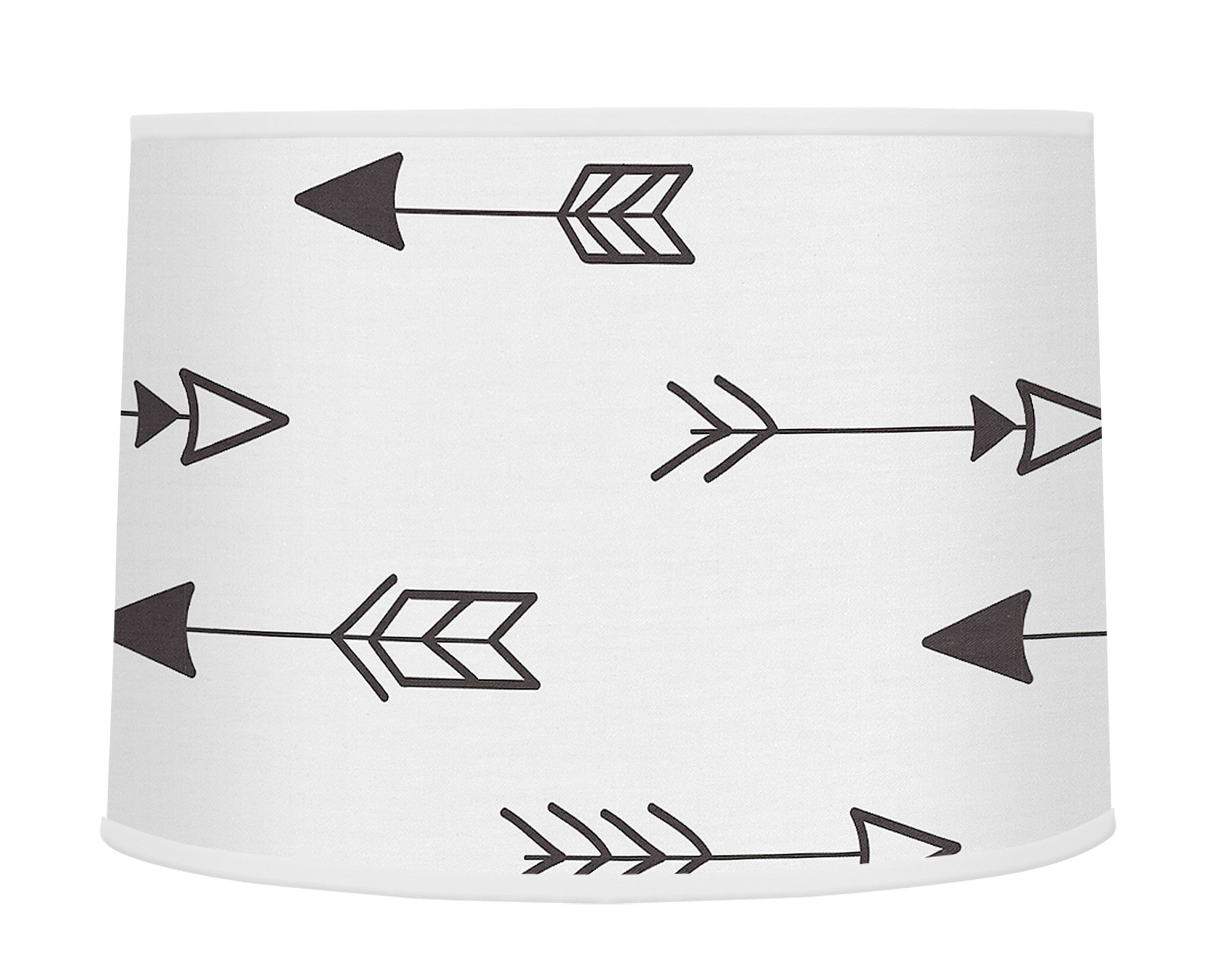 Sweet JoJo Designs Arrow Print Boys Or Girls Baby Childrens Lamp Shade for Black and White Fox Collection