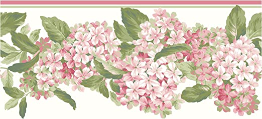 York Wallcoverings Ak7438bsmp Ashford House Blooms Hydrangea