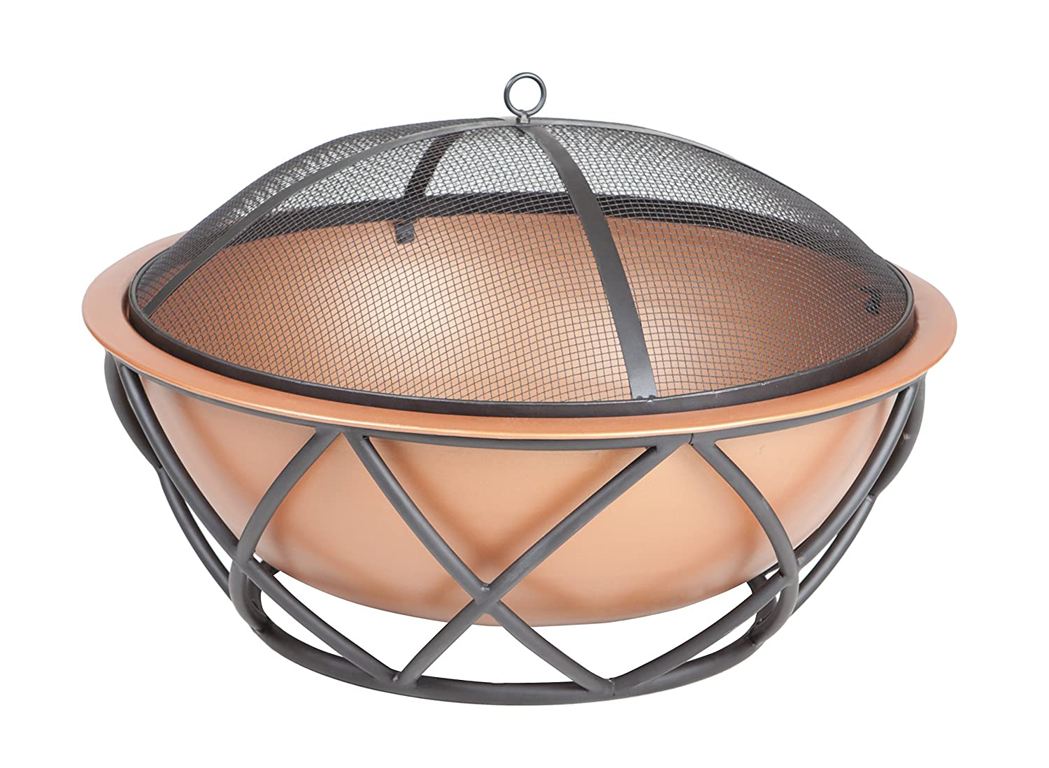 Fire Sense Barzelonia Round Copper Look Fire Pit