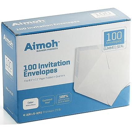 8096eb9735aa Amazon.com   100 White A2 Invitation Envelopes - 4-3 8 X 5-3 4 ...
