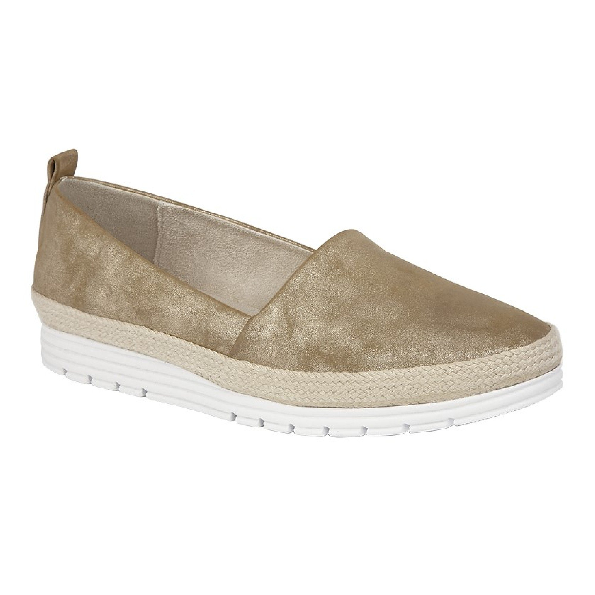 Cipriata Womens/Ladies Manuela Casual Shoes (10 US) (Gold Shimmer)
