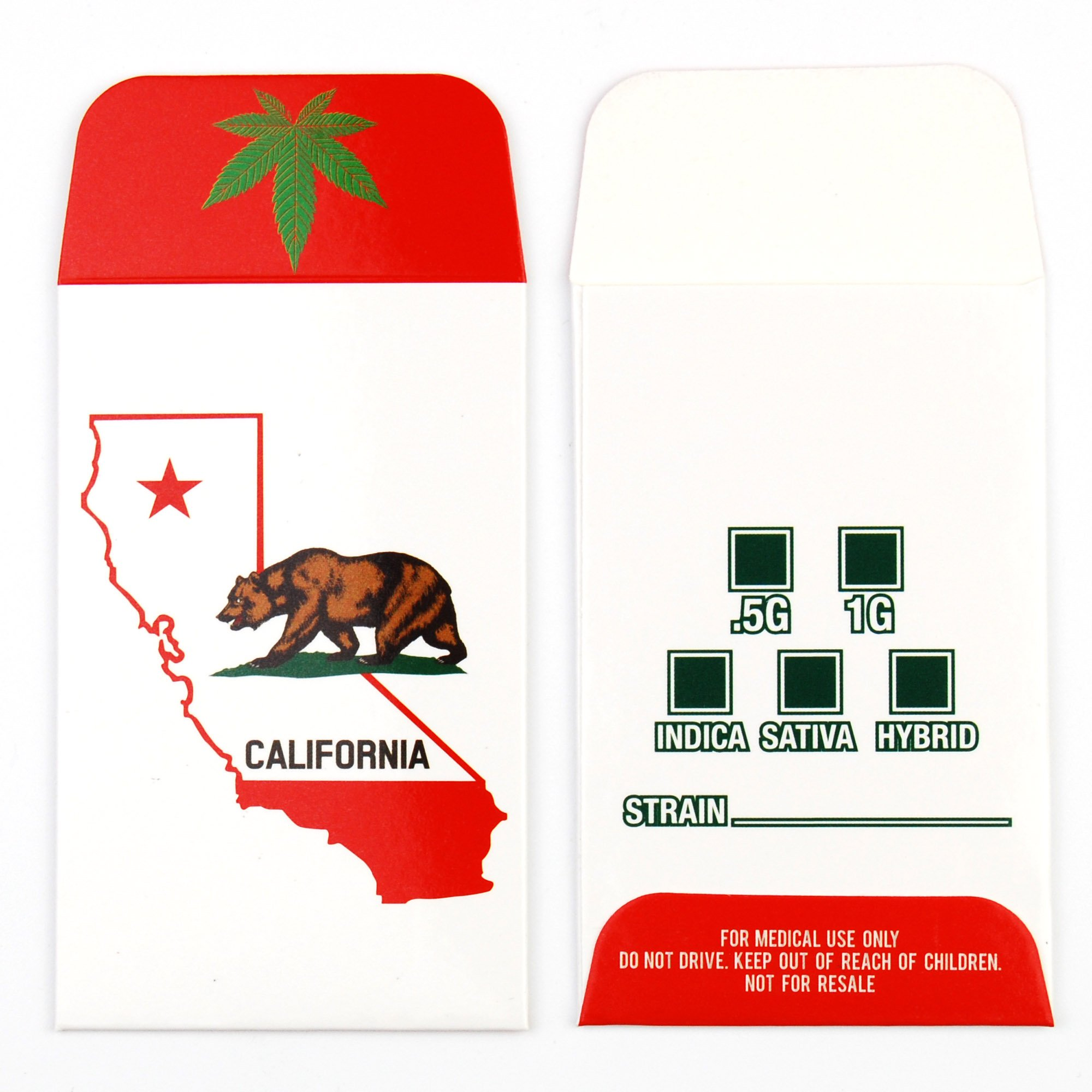1000 CA California State Bear Glossy Shatter Labels Full Color Coin Wax Envelopes #049